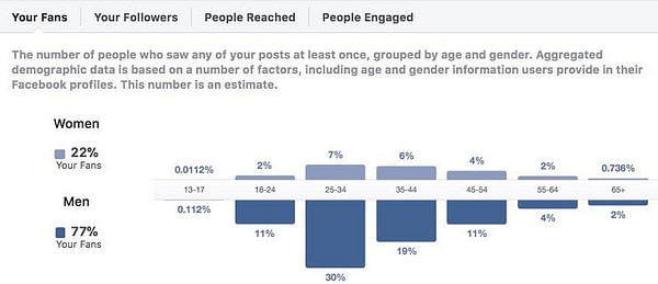 Facebook campaign fan demographics