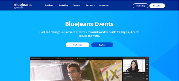 BlueJeans Events